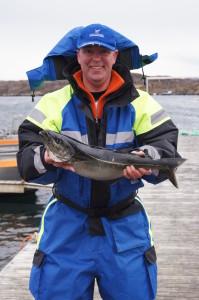 Toddi`s erster Seelachs überhaupt, hatte gleich 73 cm!