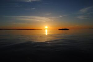 Was für ein Sonnenuntergang vom Boot aus!